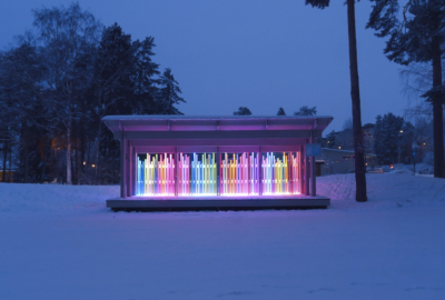 ljuskonst i parken